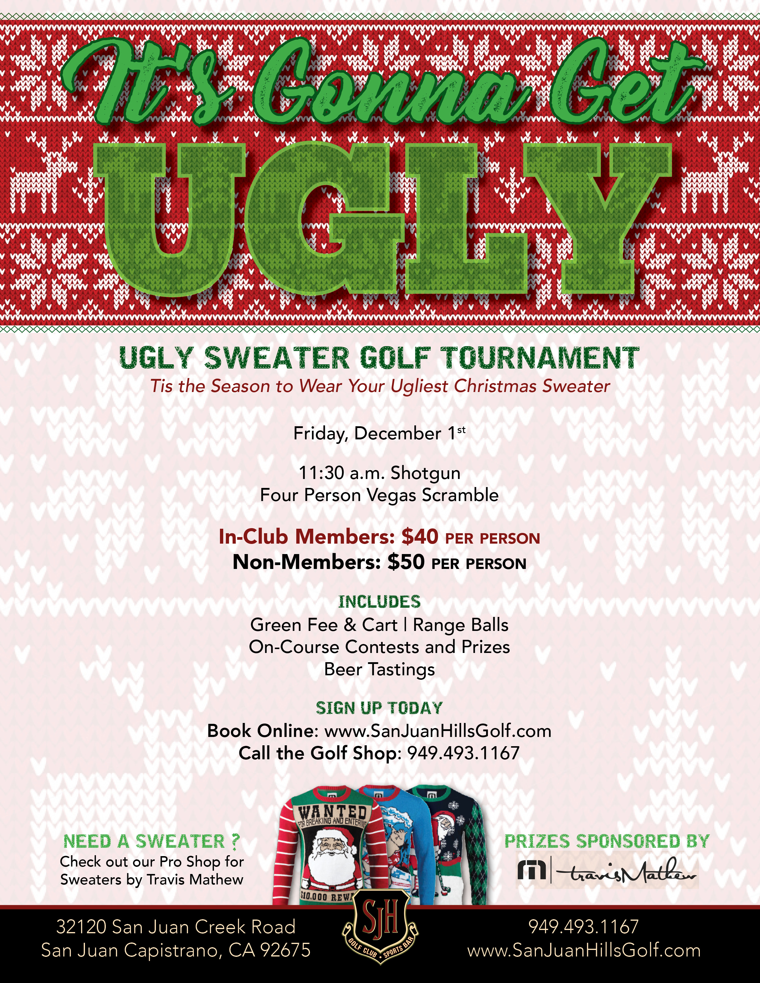 Ugly Sweater Golf Tournament