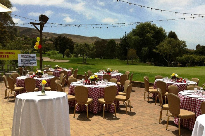 Just Down Below The Veranda Nestled Next To The Putting Green, The Green Side  Patio (dining Seating 40 100/ceremony 170) Also Has Sparkling Market  Lighting ...